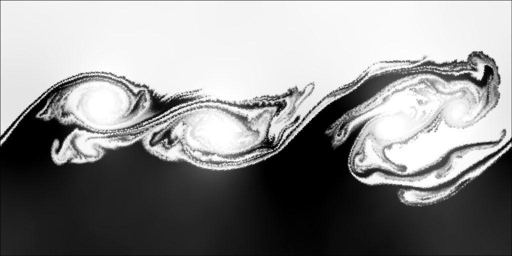 Kelvin-Helmholtz instability (multiple modes)